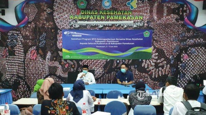 BPJS Ketenagakerjaan Pamekasan Gencar Sosialisasikan Program, Gandeng 21 Puskesmas untuk Kerja Sama