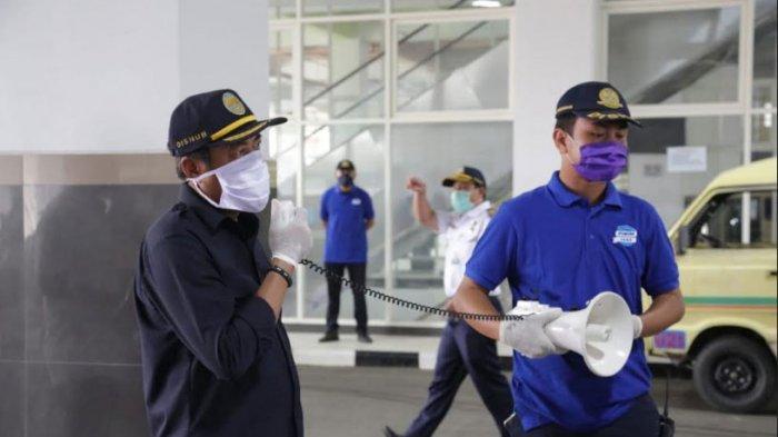 Protokol Pencegahan Penyebaran Covid-19, Dishub Surabaya Gencarkan Sosialisasi di Seluruh Terminal
