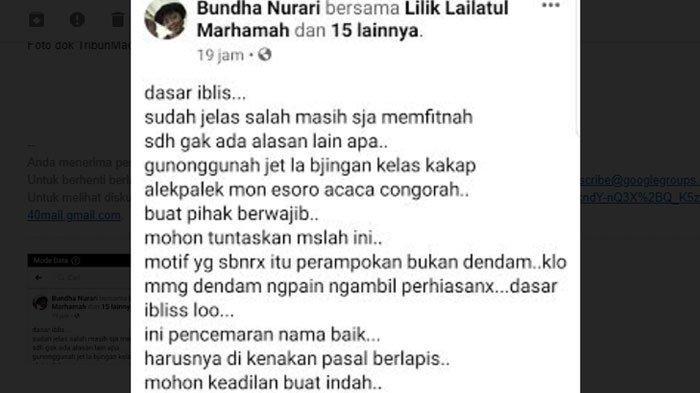 Status Facebook Bundha Nurari