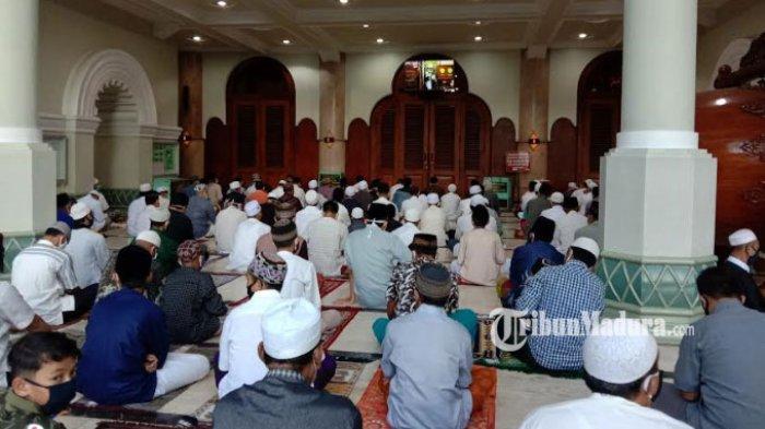 Masjid Agung Jami Kota Malang Gelar Salat Idul Fitri 2020 dengan Terapkan Protokol Kesehatan