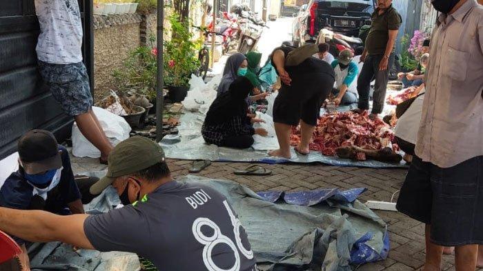 Berbagi di Tengah Pandemi, KOMPAK Surabaya Kurban 3 Sapi dan 2 Kambing Saat Idul Adha 2020