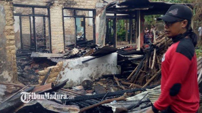 Masak Air Tapi Ditinggal Tidur, Rumah Milik Janda di Pamekasan Kebakaran
