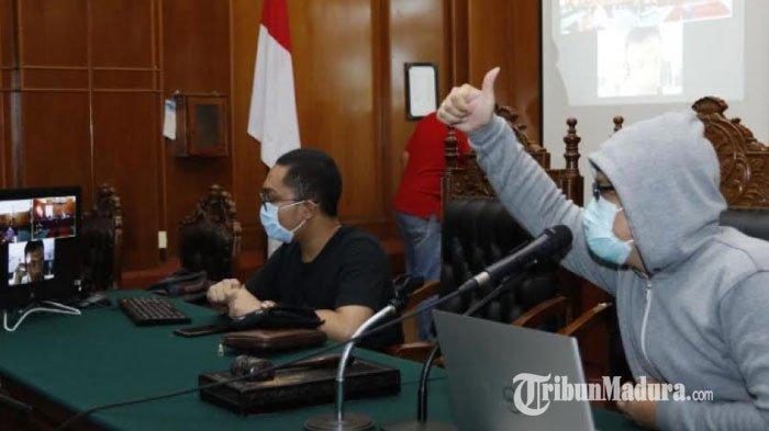 BREAKING NEWS Perangkat Sidang Online Siap, 74 Perkara Disidangkan Secara Teleconference di Surabaya