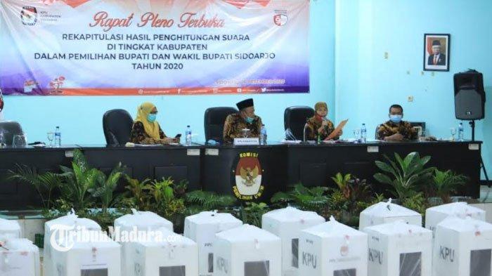 Hasil Rekapitulasi KPU Pilkada Sidoarjo 2020, Muhdlor – Subandi Menang Tipis dari BHS – Taufiqulbar