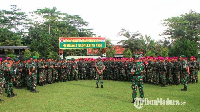 Kodim Pamekasan Terima Pasukan BKO, Guna Amankan Jalannya Pemilu 2019 di Kabupaten Pamekasan