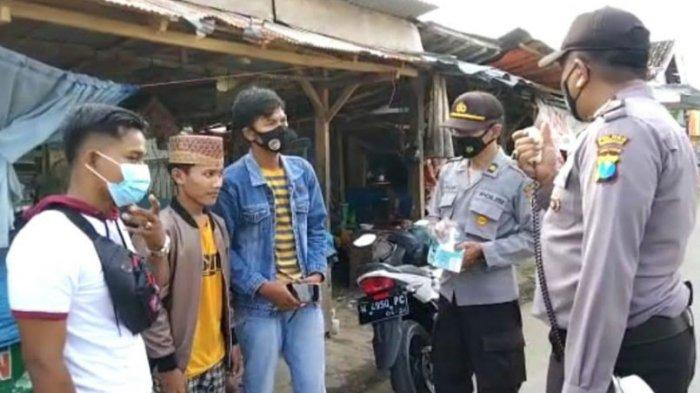 Polsek Tamberu Gelar Operasi Yustisi di Pasar Batu Bintang, Pedagang yang Tak Patuh Prokes Disanksi
