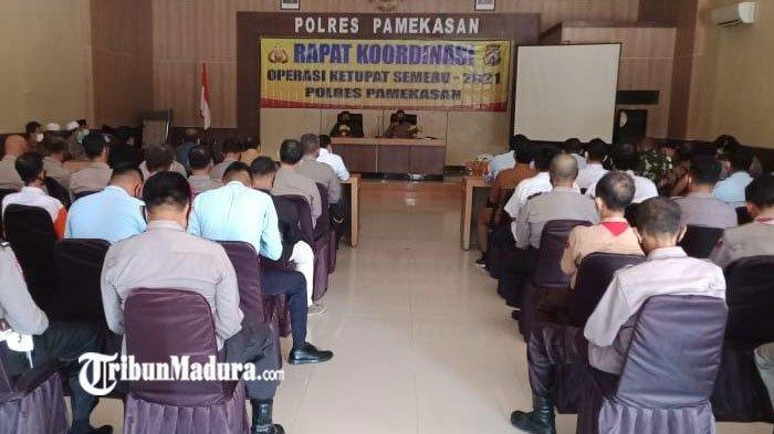 Polres Pamekasan Gelar Rapat Koordinasi dengan Forkopimda, Persiapan Operasi Ketupat Semeru 2021