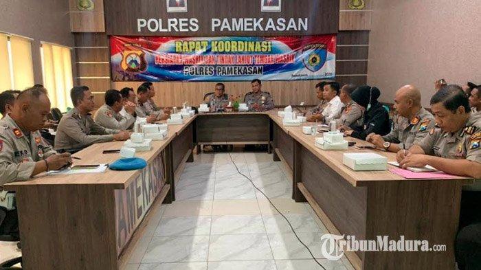 Gelar Rapat Koordinasi, Polres Pamekasan Siapkan Berkas Pemeriksaan yang Akan Dilakukan Polda Jatim