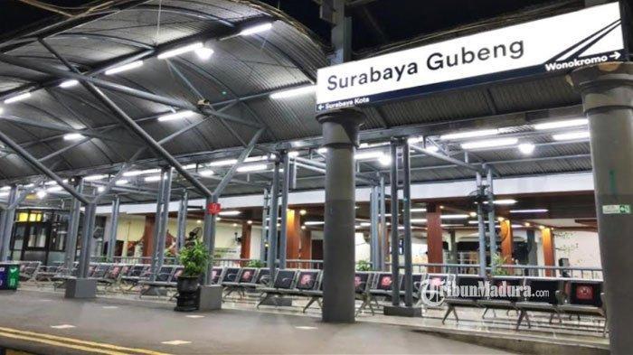 Stasiun Gubeng Alami Penurunan Jumlah Penumpang, hanya Layani 135 Orang Hari Pertama Larangan Mudik