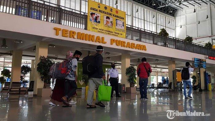 Terminal Purabaya Tak Segan Pulangkan Penumpang Tidak Bermasker, Terapkan Protokol Kesehatan Ketat