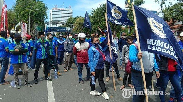 Sarbumusi Mengadu ke Pemprov Jatim, Protes Ratusan Buruh Jadi Korban PHK Sepihak di Sidoarjo