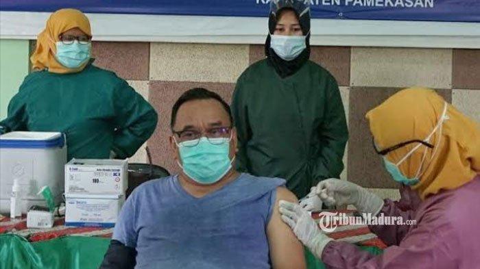 133 Pegawai Disperindag Pamekasan Menjalani Vaksinasi Covid-19, 15 Orang Tak Bisa Divaksin