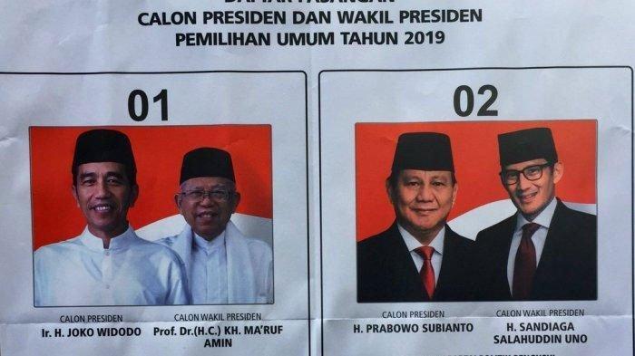 REAL COUNT TPS PILPRES 2019,Jokowi-Maruf Ungguli Prabowo-Sandi di 2 TPSLapas Kelas IIB Tulungagung