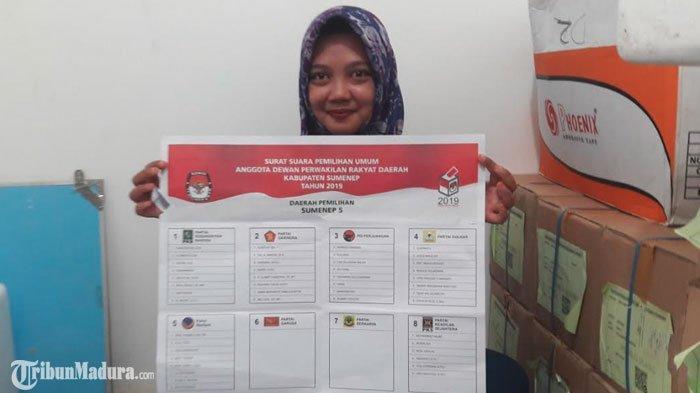 KPUSumenep Temukan 500 Lembar Suara Pemilu DPRD Kabupaten Rusak dan Berlubang