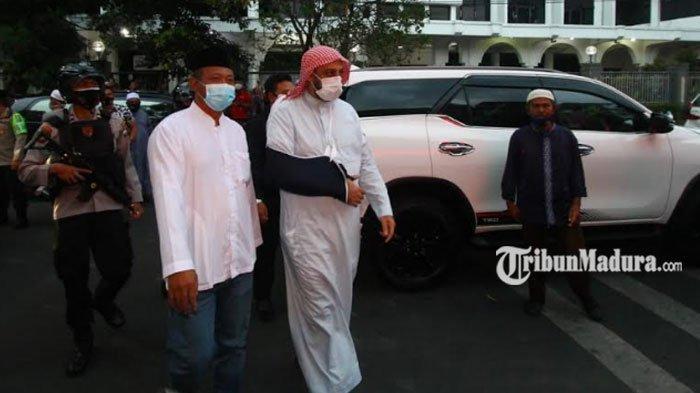 Silaturrahmi ke Malang, Syekh Ali Jaber Minta Umat Islam Tak Terprovokasi Penusukan yang Dialaminya