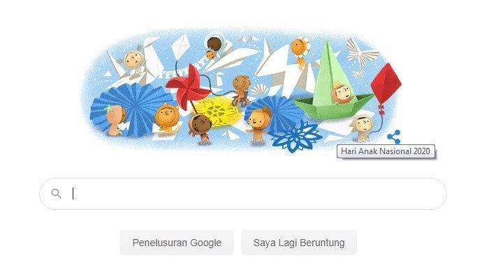 Google Tampilkan Gambar Hari Anak Nasional 2020, Simak Sejarah Hingga Ditetapkan pada 23 Juli