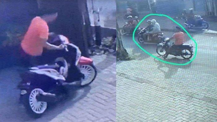 Nasib Pilu Pria Surabaya, Motornya Raib Saat Beli Baju Lebaran, Lihat CCTV Rupanya Digasak 3 Bandit