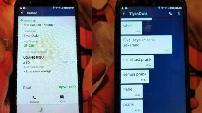 VIRAL Driver Ojek Online Kena Prank Siswa SMP, Pesanan Makanan Seharga Rp 525.000 Dibatalkan