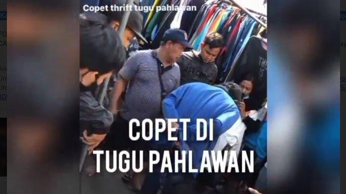 Viral Penangkapan Pencopet di Tugu Pahlawan Surabaya, Ternyata Sosoknya Sudah Lama Diincar Polisi