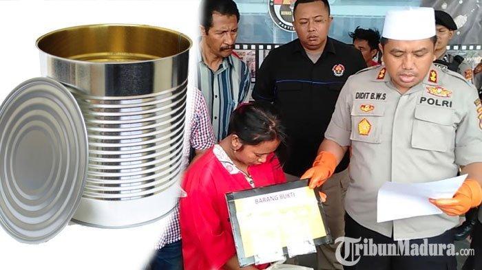 NgamukKaleng Susu Anak Hendak Dibawa Polisi,Bandar Sabu di Sampang Simpan BB di Tempat Tak Terduga
