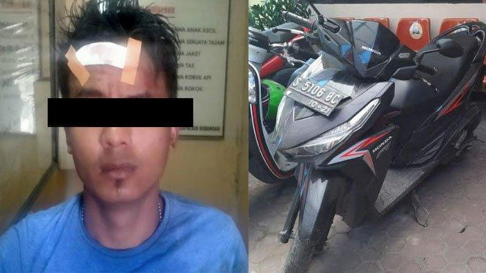 Maling Motor asal Surabaya Tercebur Parit, Dikepung Warga Sidoarjo, Malah Ditinggal Kabur Temannya