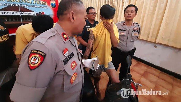 Begal Sadis di Surabaya, Bagi Peran, Kuntit Lalu Tendang Motor Mio Soul Korban, Batu Jadi Senjata