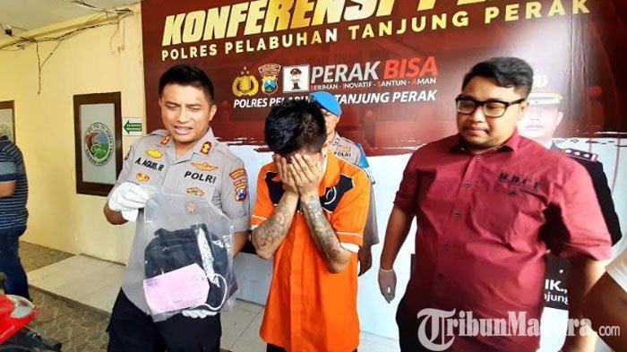 Panik Dikejar Polisi, Jambret Tas Wanita di Surabaya Tabrak Trotoar hingga Terjatuh dengan Motornya