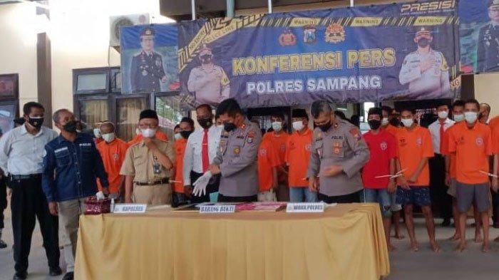 Dalam 30 Hari, Polres Sampang Bekuk Puluhan Tersangka Kasus Narkoba, Belasan di Antaranya Pengedar