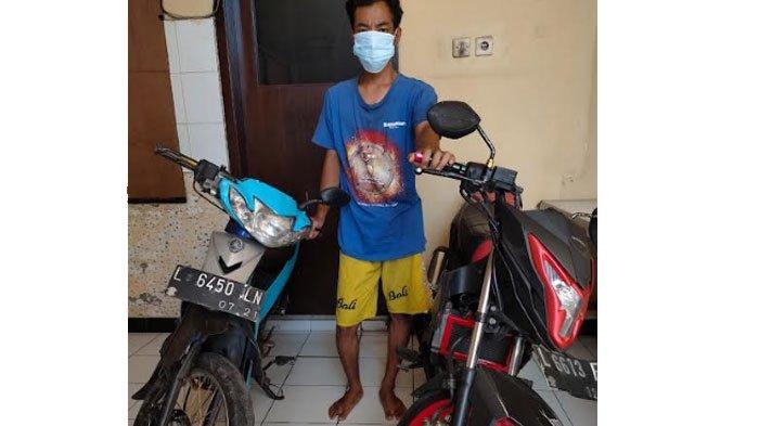 Apes Pencuri asal Sampang Usai Curi Motor Honda Sonic, Kepergok saat Ambil Motornya yang Ditinggal