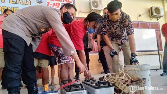 Pinjam Mobil Kepala Desa, Pemuda Sampang Curi Aki Kendaraan Berat di Tambang Batu Milik Kades