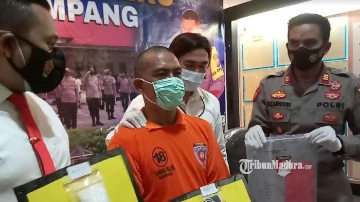 Pengedar Sabu Bersenjata Api asal Sampang Madura Ditangkap,Lindungi Diri dengan Senpi Rakitan