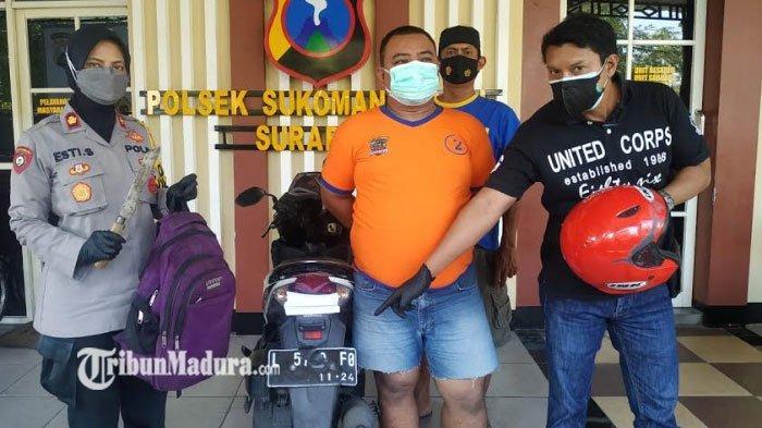 Jambret Kalung di Surabaya Beraksi Menggunakan Honda Vario Kini Dibekuk Polisi, Modusnya Terungkap