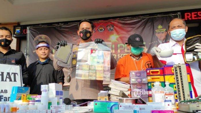 Tanpa Resep Dokter, Pemilik Toko Obat di Blitar Jual Obat Keras, Otodidak Meracik Obat Jualannya