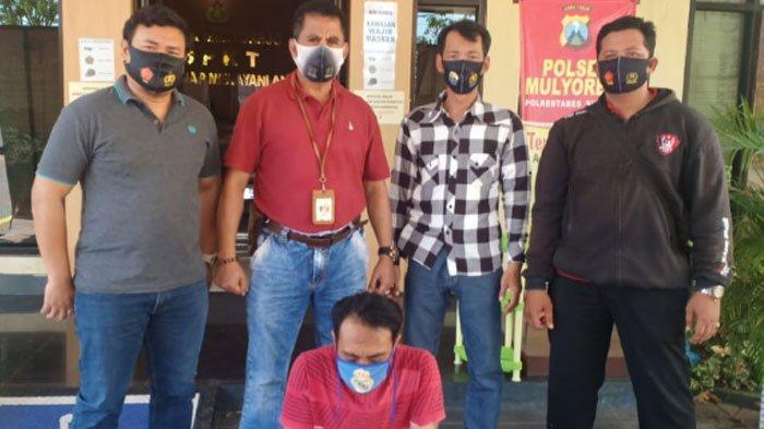 TersangkaZakaria (37) ditangkapUnit Reskrim Polsek Mulyorejo,Senin(5/10/2020).