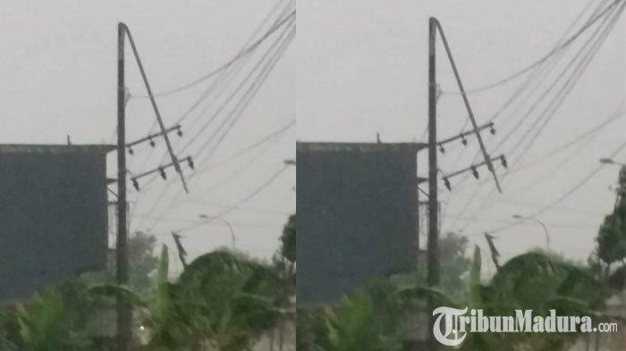 PLN Pamekasan Lakukan Normalisasi Arus setelah Sejumlah Tiang Listrik Roboh Akibat Hujan dan Angin