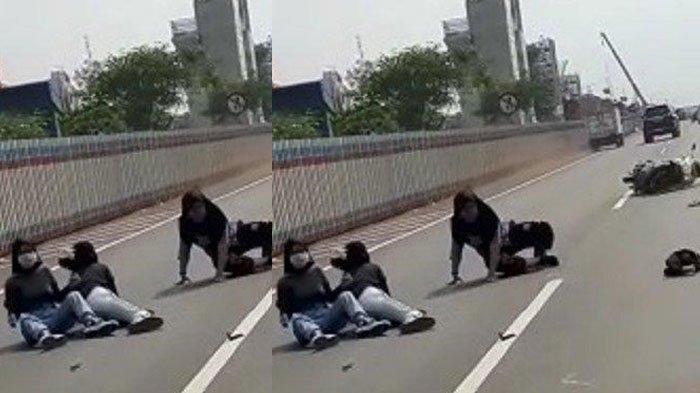 Kronologi Gadis Naik Motor Bonceng Tiga Masuk Jalan Tol, Baru Berhenti Usai Menabrak Mobil Pajero