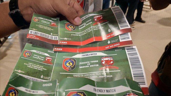 Calo Gentayangan, Tiket Palsu Marak Beredar saat Laga Persatu Vs Madura United di Stadion Bumi Wali