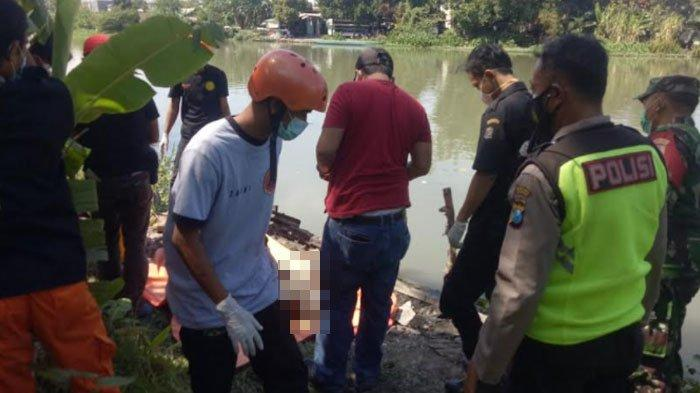 Jenazah Pria Mengambang di Sungai Kedurus Surabaya, Kondisi Lidah Tergigit, Ini Dugaan Polisi