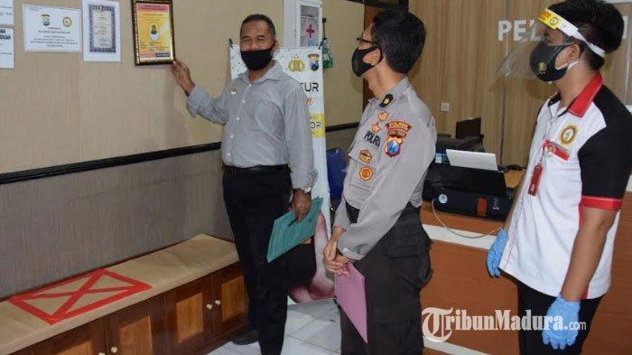 Penilaian Pembangunan ZI menuju WBK dan WBBM, TPI Polda Jatim Cek Pelayanan Publik Polres Pamekasan