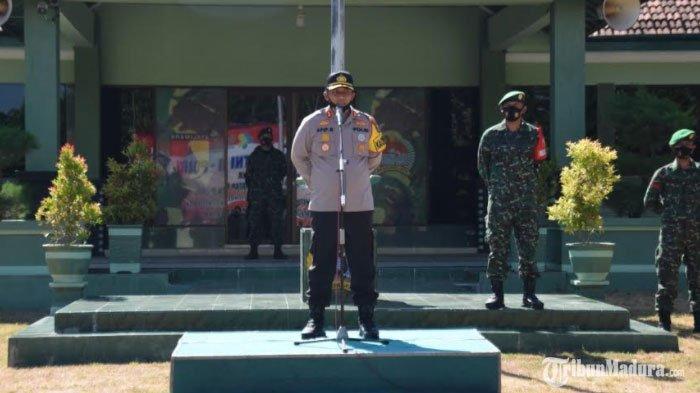 TNI dan Polri Gelar Apel Bersama, Sinergi Tingkatkan Penegakan Hukum Protokol Kesehatan di Pamekasan