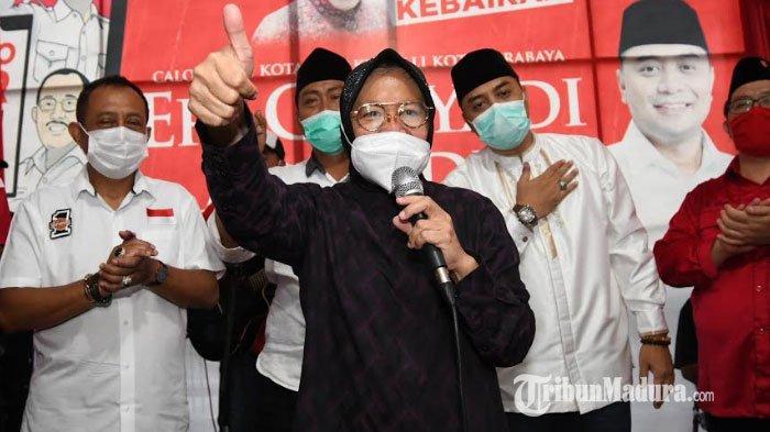Eri Cahyadi-Armuji Sampaikan Pidato Kemenangan Hitung Cepat Pilkada Surabaya 2020: Jaga Persatuan!