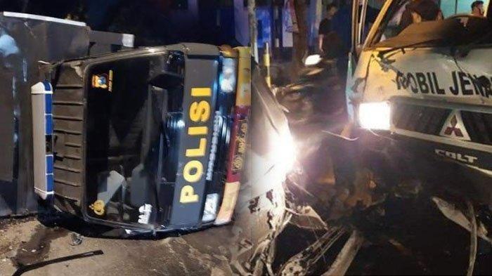 Kecelakaan Mobil Tabrak Truk Polisi dan Ambulans Bawa Jenazah Covid-19 di Jember, Lima Orang Terluka