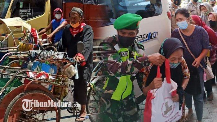 Mengintip Isi Bantuan Presiden Jokowi yang Dibagikan di Ponorogo, Warga di Pasar Legi Kecipratan