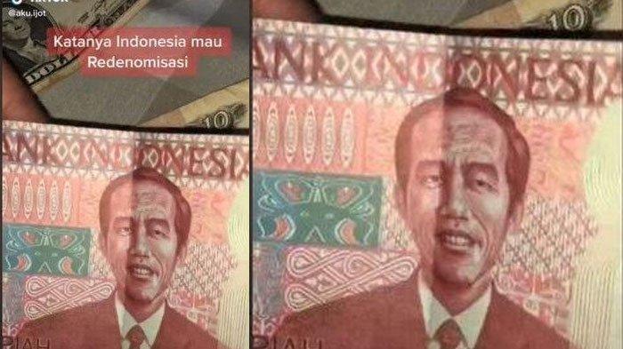 Uang 100 Rupiah Gambar Jokowi Viral di TikTok, Disebut Redenominasi Rp 100 Ribu, BI: Bukan dari BI