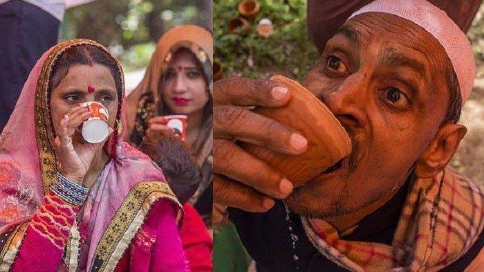 Ratusan Warga India Minum Air Kencing Sapi, Mereka Percaya Mampu Tangkal Wabah Virus Corona