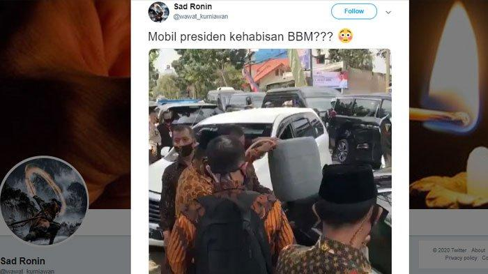 Fakta Video Viral Mobil Dinas Wakil Presiden Diduga Kehabisan Bensin dan Diisi BBM di Pinggir Jalan