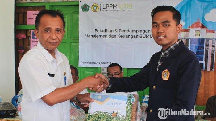 Dukung Misi Ciptakan Desa Tematik, Mahasiswa Universitas Trunojoyo Madura Gelar Pelatihan Bumdes