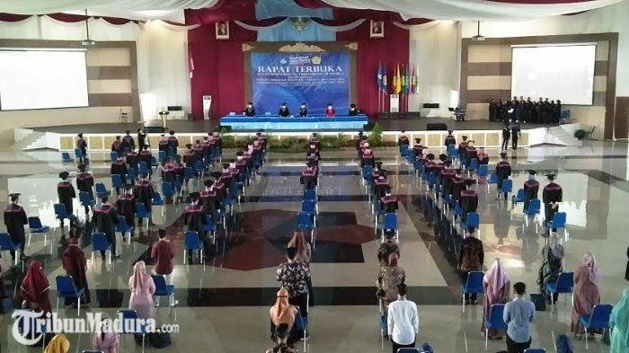 Universitas Trunojoyo Madura Gelar Wisuda, Terapkan Protokol Kesehatan Ketat Cegah Covid-19