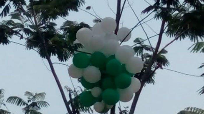Untaian Balon Meledak dan Terbakar Mengenai Warga yang Sedang Berebut Balon, Warga Tergiur Hadiah