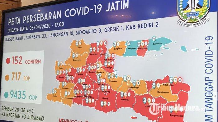 Update Covid-19 di Jatim, Kasus Positif Corona dan ODP Melonjak Signifikan, Juga Ada Kabar Sembuh